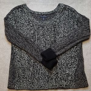 American Eagle Black & White Marled Sweater Sz S/P